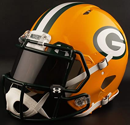 209447fec10 Image Unavailable. Image not available for. Color  Riddell Custom Green Bay  Packers Full Size NFL Speed ...
