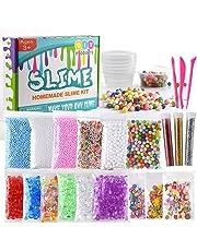 Kuuqa 24 Unidades Kit para Hacer Slime Suministros Incluyendo Micro Perlas de Espuma de Poliestireno Bolas