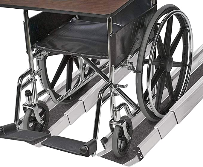 TRIBLE SIX 10 ft Portable Wheelchair with Sandpaper Slip Resistant Surface Ramp Multifold Collapsible Aluminum