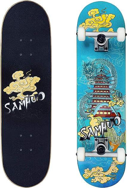 Complete Skate Board 31 X 8.0 Skateboard Brand NEW Assembled Kids /& Adult