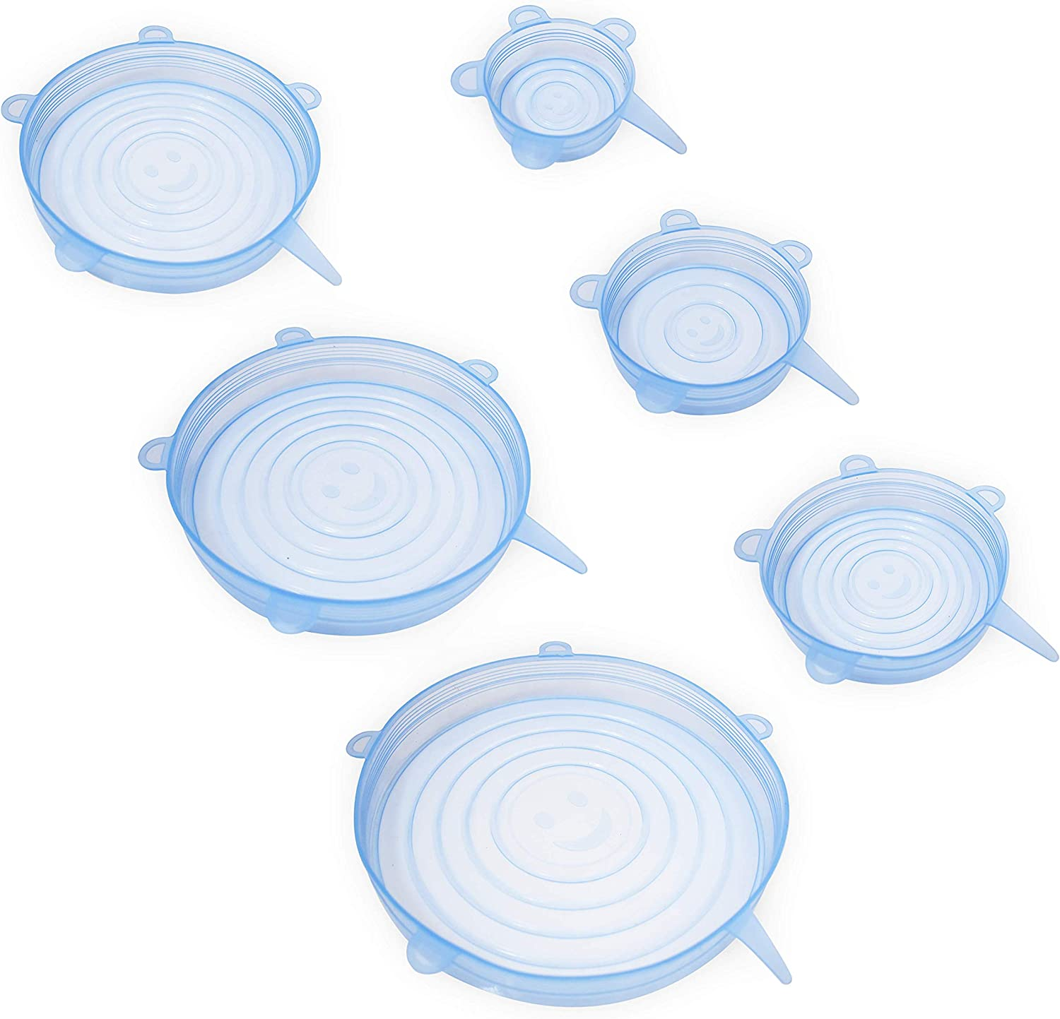 homEdge Silicone Stretch Lid, 6 Packs of Various Sizes