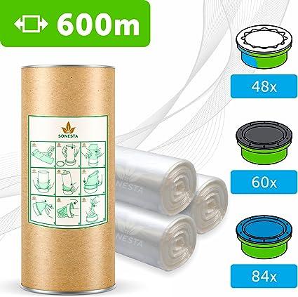 600 M - ECO Recarga compatible Sangenic Tommee Tippee | Angelcare para pañales | equivalente 48 cajitas Sangenic | 60 Angelcare | Producido en Europa + rollo de cartón para rellenar fácil: Amazon.es: Bebé