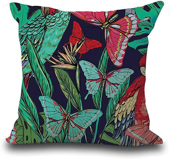 Amazon.com: KMG kimloog Vintage Floral Tropical hojas ...