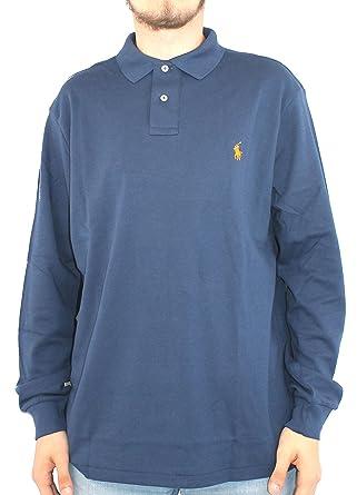 Polo Ralph Lauren para hombre camiseta de manga larga Azul PD21 ...
