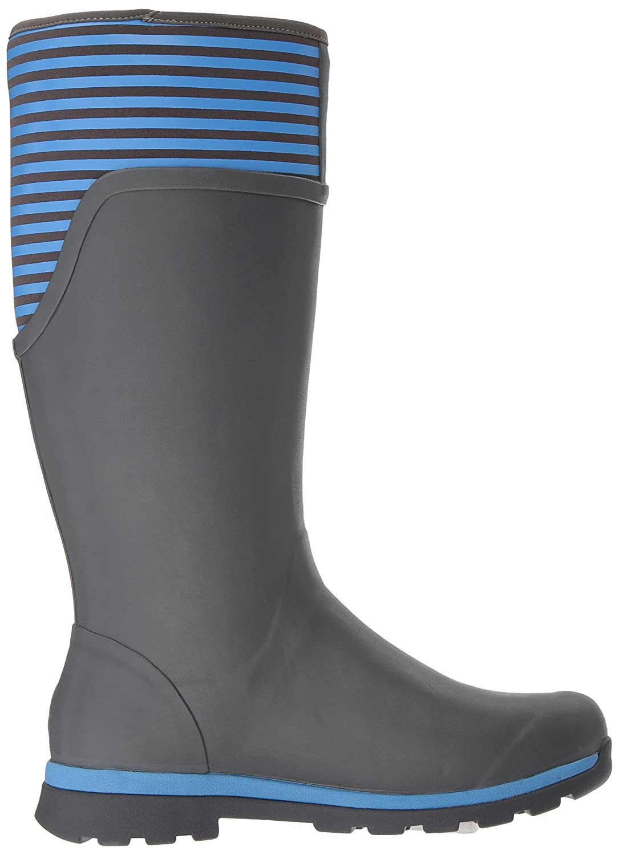 Muck Boot Women's Cambridge Tall Snow B01N4OAN0R 5 B(M) US|Gray With Blue Stripe