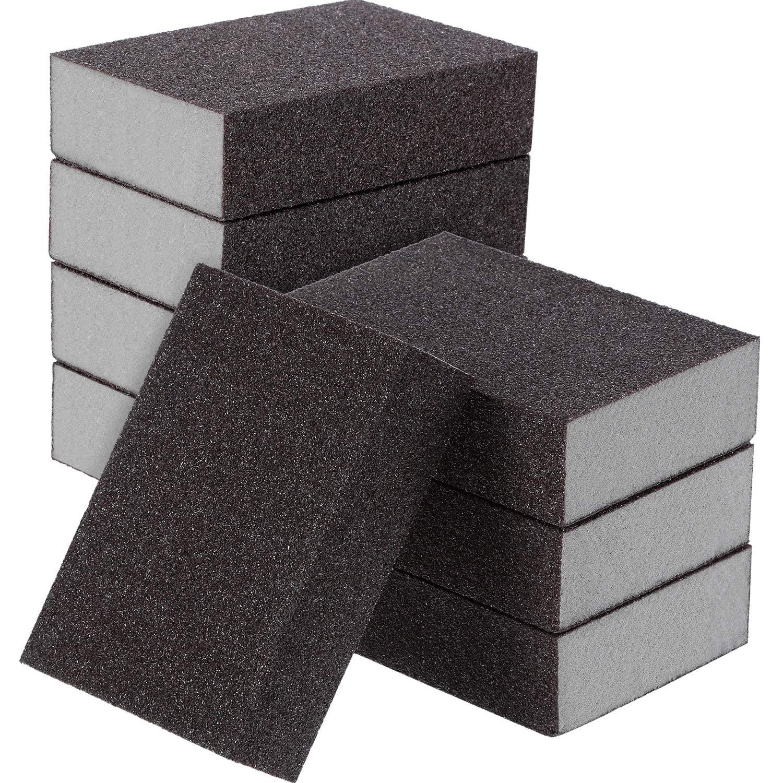 Sanding Sponge, Sanding Blocks, Washable and Reusable Sand Sponge Kit, 8 Pieces (Medium Grade) by eBoot