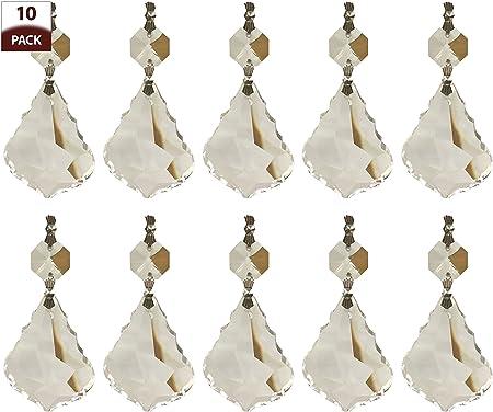 50pcs Stainless Steel Chandelier Crystal Prism Beads Connector Metal Hook DIY