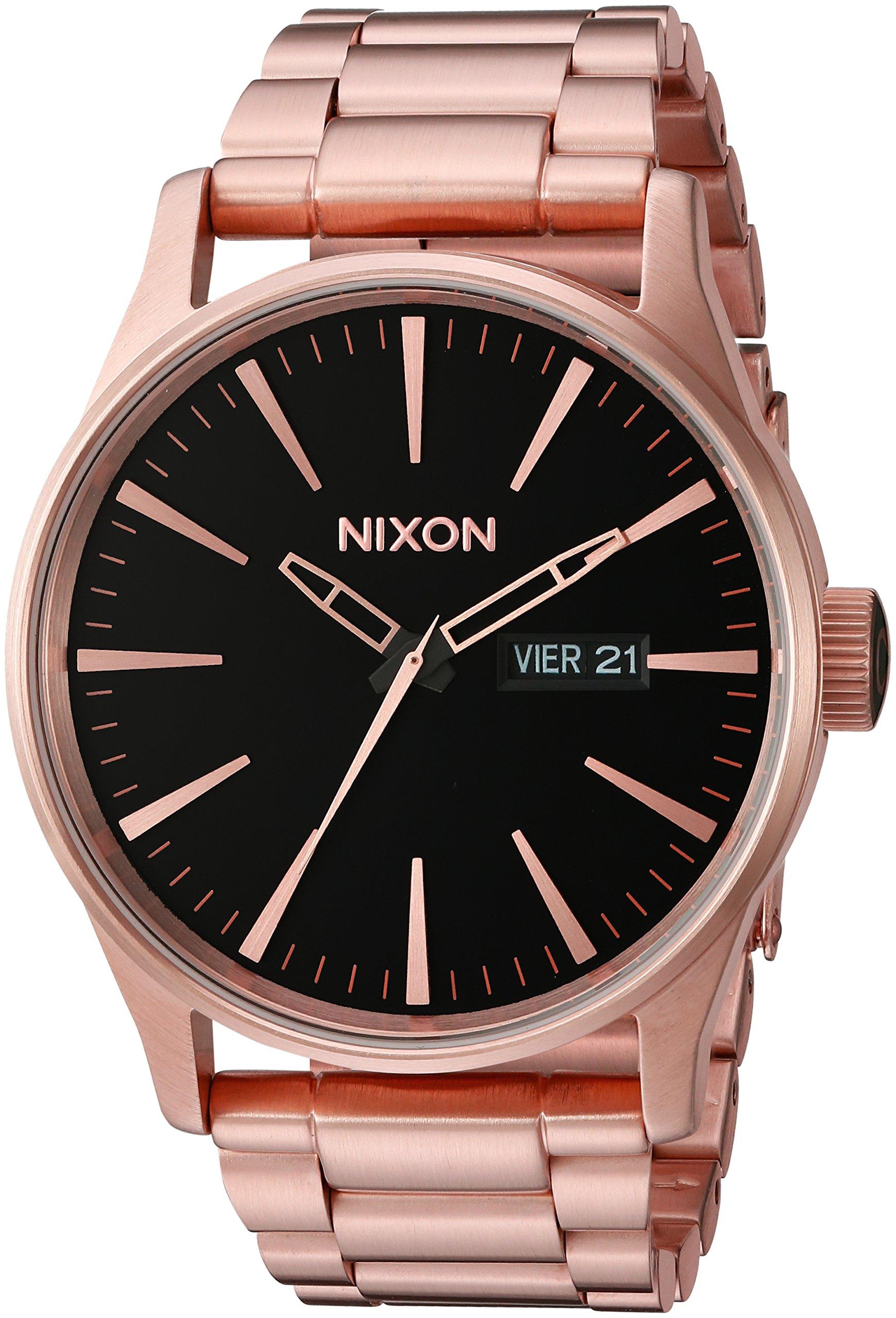 Nixon Unisex Sentry SS All Rose Gold/Black Watch