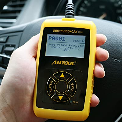AUTOOL Car Diagnostic Tool, 12V OBDII Fault Code Read Erase Tester for Engine-O2 Sensor EVAP EGR: Automotive
