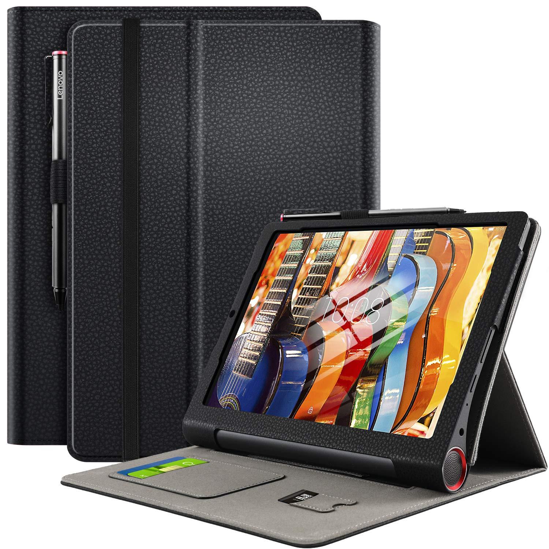 ELTD Funda Carcasa para Lenovo Yoga Smart Tab, Ultra Delgado Stand Función Smart Fundas Duras Cover Case para Lenovo-Yoga Smart Tab Tableta, (Negro)
