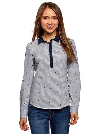 oodji Ultra Mujer Camisa Estampada