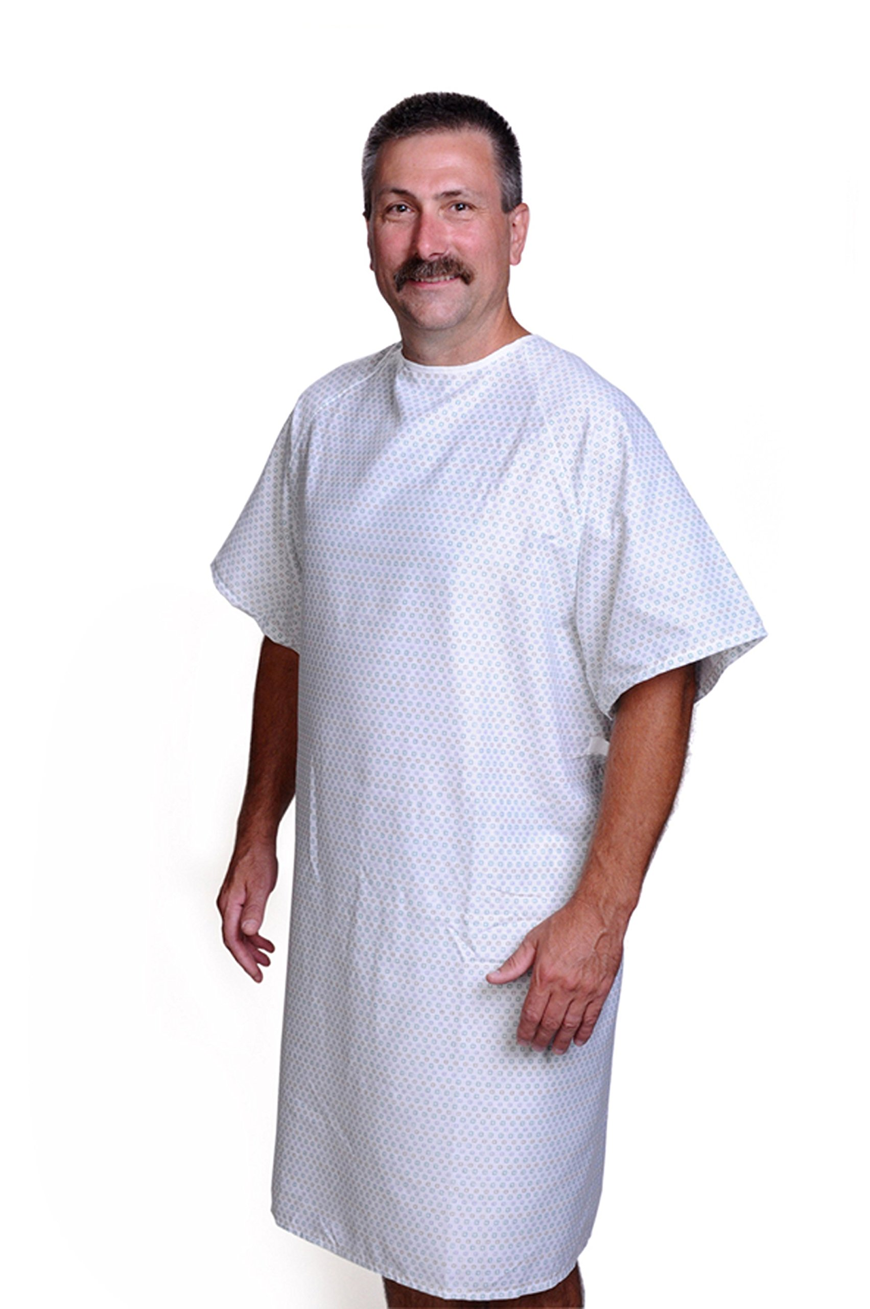 Amazon.com: Medline MDTPG3RABPAS Patient Gown Pastel Print Overlap ...