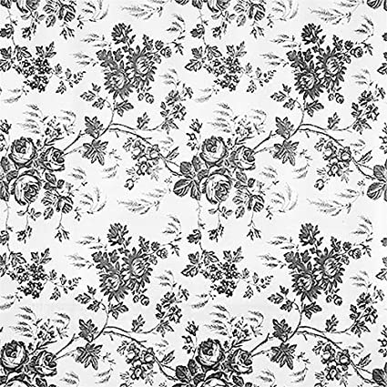 1 X Black And White Flower Toile Contact Paper 4 5 Ft By 18 In By Kittrich Corporation