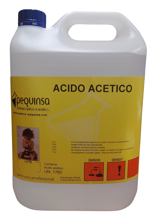 Acido Acetico. Envase 5 Litros.: Amazon.es: Industria, empresas y ciencia