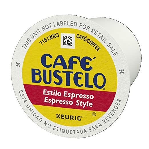 Café Bustelo Espresso Style K-Cup Pods for Keurig K-Cup Brewers, Dark Roast Coffee, 18 Count (Pack of 4): Amazon.com: Grocery & Gourmet Food