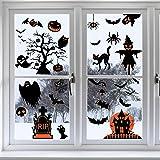 TMCCE 60PCs Halloween Decorations Halloween Window Clings Decals for Halloween Supplies Happy Halloween Wall Decal Good Hallo