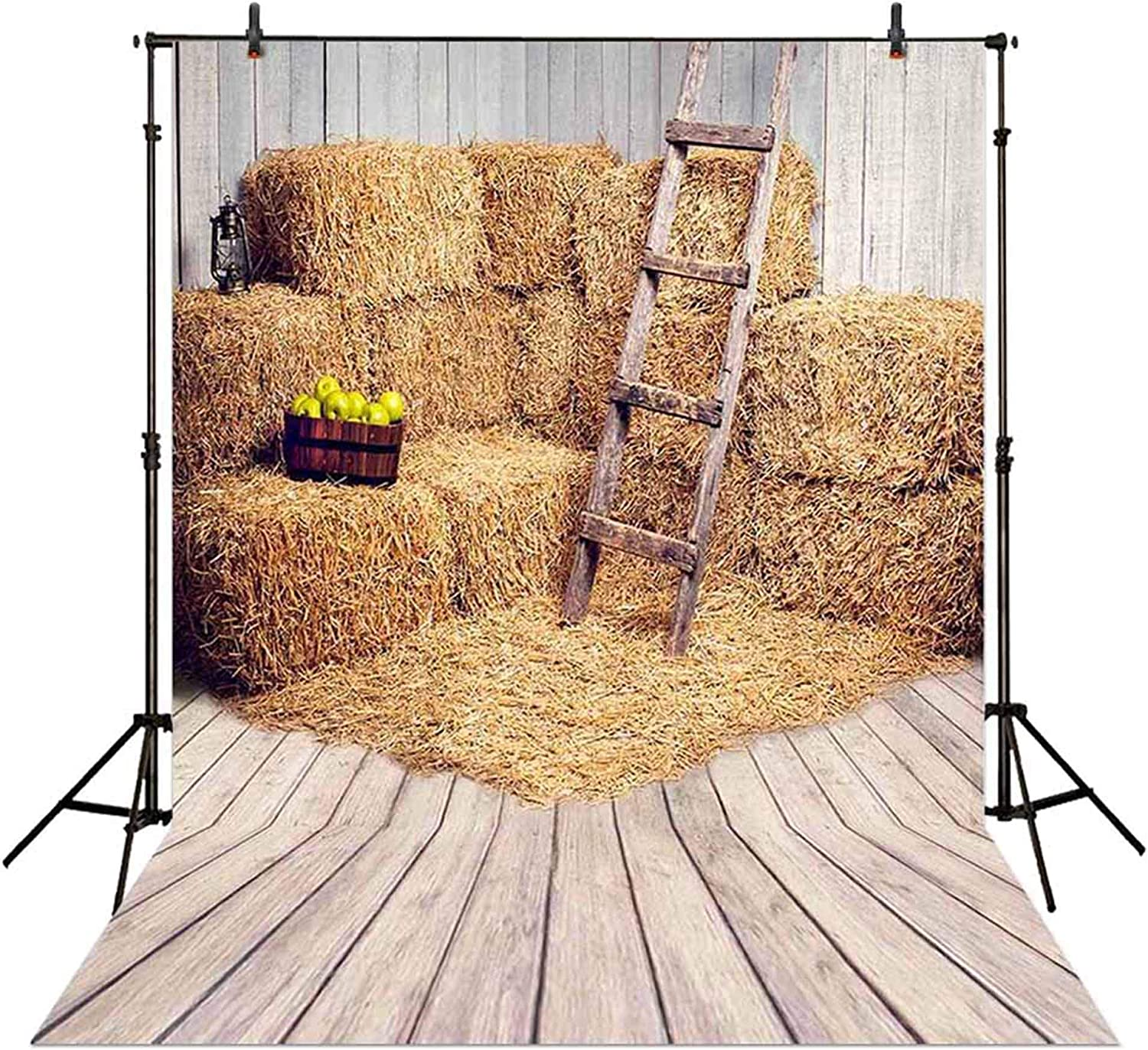 Allenjoy 5x7FT Farm Haystack Backdrop for Fall Photography Old Barn Harvest Background Kids Baby Autumn Thanksgiving Day Party Banner Decoration Photo Booth Props