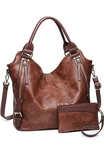 a511dce9e Women Tote Bag Handbags PU Leather Fashion Hobo Shoulder Bags with  Adjustable Shoulder Strap