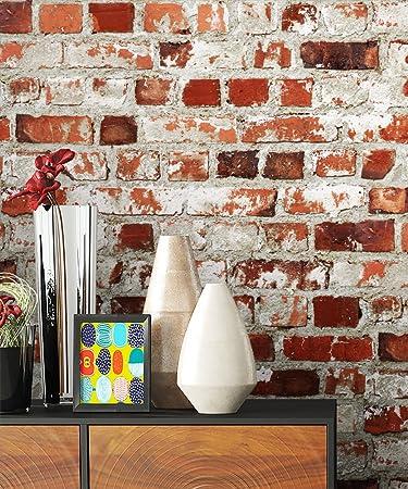 AuBergewohnlich Steintapete Rot Weiß Rustikal Natur Stein , Schöne Edle Tapete Im  Steinmauer Loft Design , Moderne