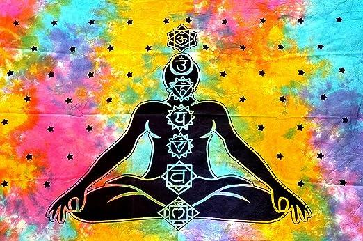 Home Décor Export 7 Chakra Póster Buda Yoga Tapiz Meditación ...