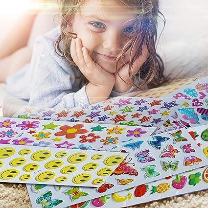 Aufkleber für Kinder, Haice Stickerbögen kinder / 3D geschwollene Aufkleber / 3D Puffy Aufkleber aus 800, 15 Stickerbögen für