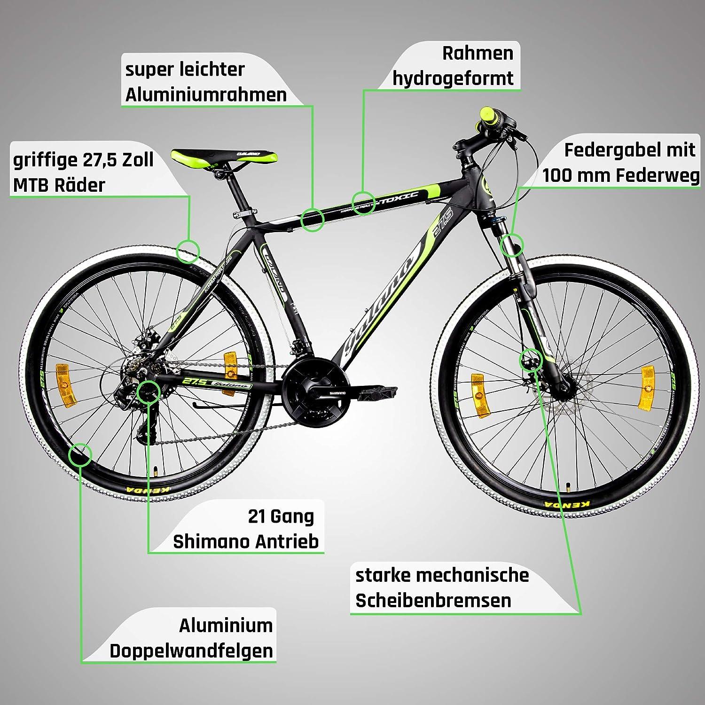 Galano 27,5 Pulgadas 650B MTB Toxic Mountain Bike Frenos de Disco ...