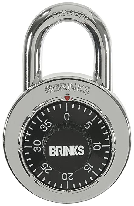 Brinks 162 49001 1 78 Inch 48mm Stainless Steel Dial Combination