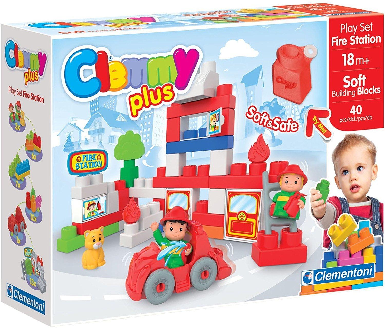 Amazon com : Clemmy Plus Fire Station 40 Pc : Baby