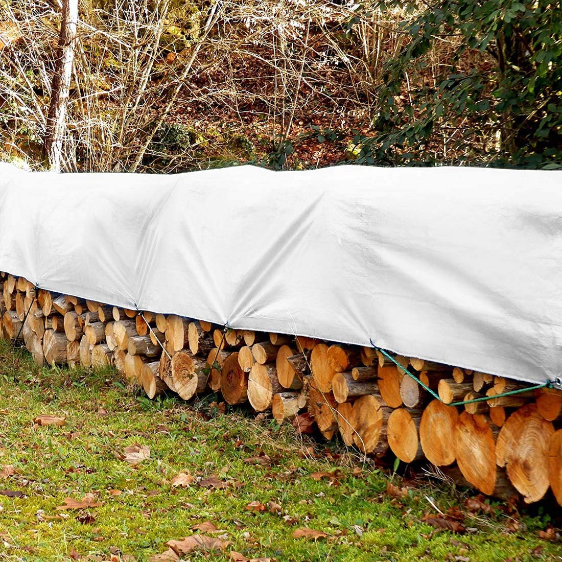 Allyine B/âche De Protection Blanc B/âche /À L/épreuve De La D/échirure Et De La D/échirure 0.32mm B/âches Robustes Imperm/éables 175g // m/² Toile De Couverture Agricole