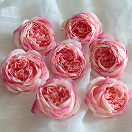 Amazon fanflona silk flowers in bulk wholesale 60 flower heads fanflona silk flowers in bulk wholesale 60 flower heads silk tea rose artificial peony flower heads mightylinksfo