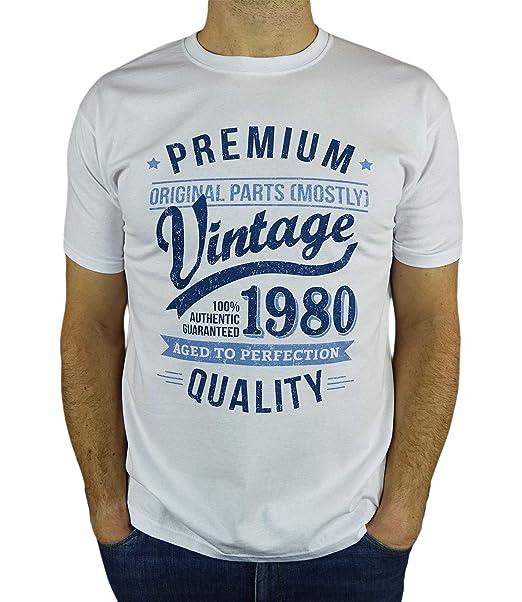 My Generation Gifts 1980 Vintage Year - Aged to Perfection - 40 Cumpleaños Años - Regalo de Cumpleaños Camiseta para Hombre