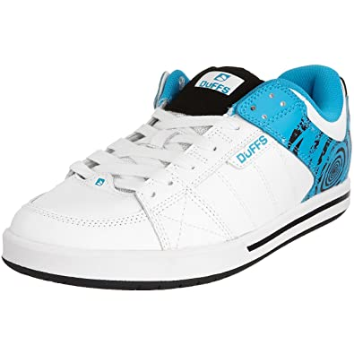 61289f8464 Duffs Men s Neo Skateboarding Shoe White Cyan D162-WCY 6 UK  Amazon ...