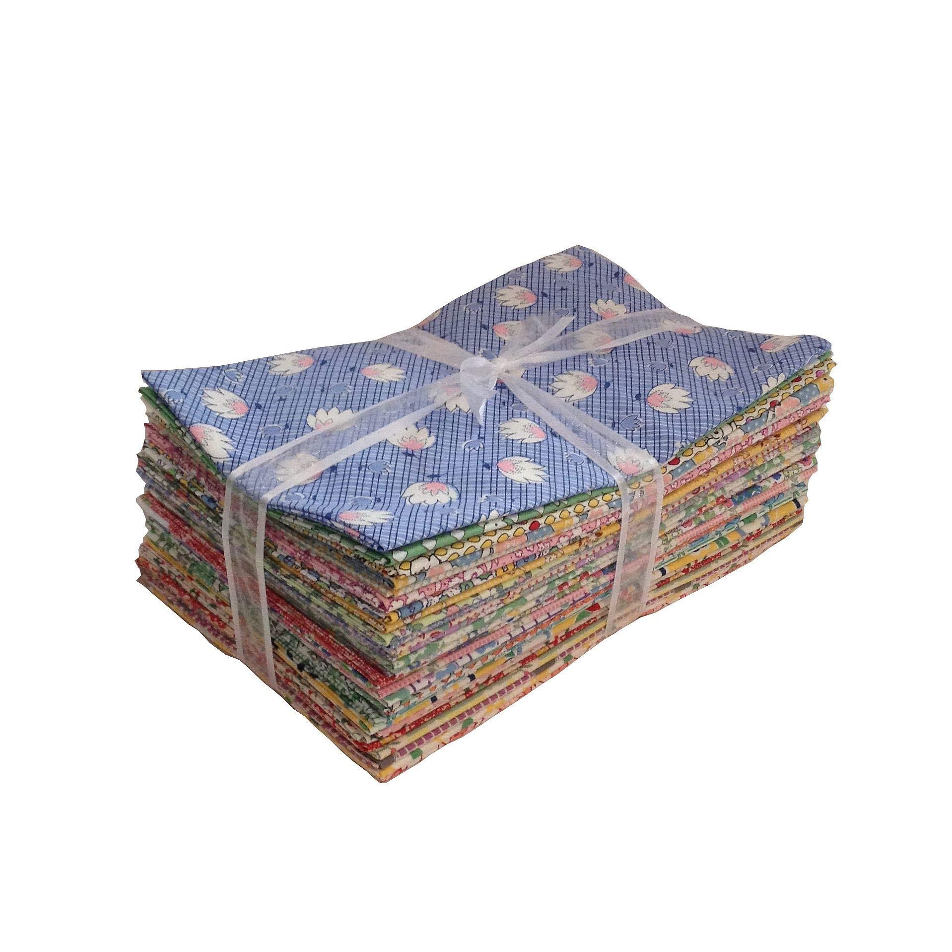 30 1930s Reproduction Fabric Fat Quarters Quilt Shop Quality No Duplicates