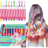 Hair Chalk & Face Paint Gift Set For Girls – 10 Colorful Pens - Suitable For Face Painting - 10 Metallic, Glitter & Color Pens For All Hair Colors - 80 uses Per Pen - Fun Hair Accessories & Face Paint