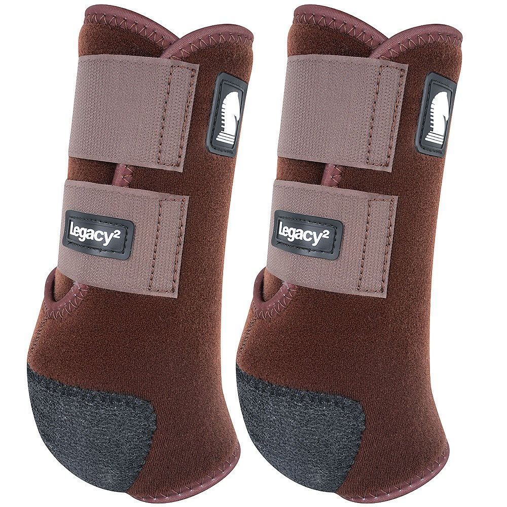 クラシックロープ会社legacy2 Hind保護用ブーツ2パックLチョコレート   B0792GTL9P