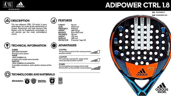Amazon.com: adidas - Raqueta de pádel de alto rendimiento de ...
