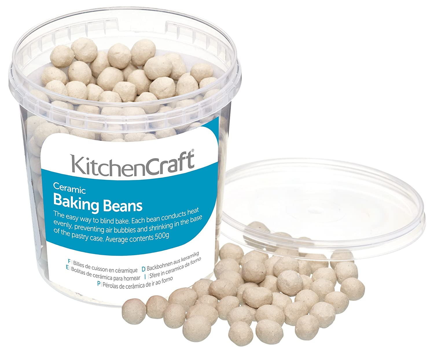 Amazon.com: Kitchencraft Ceramic Baking Beans For Pastry, 500 G (1 ...