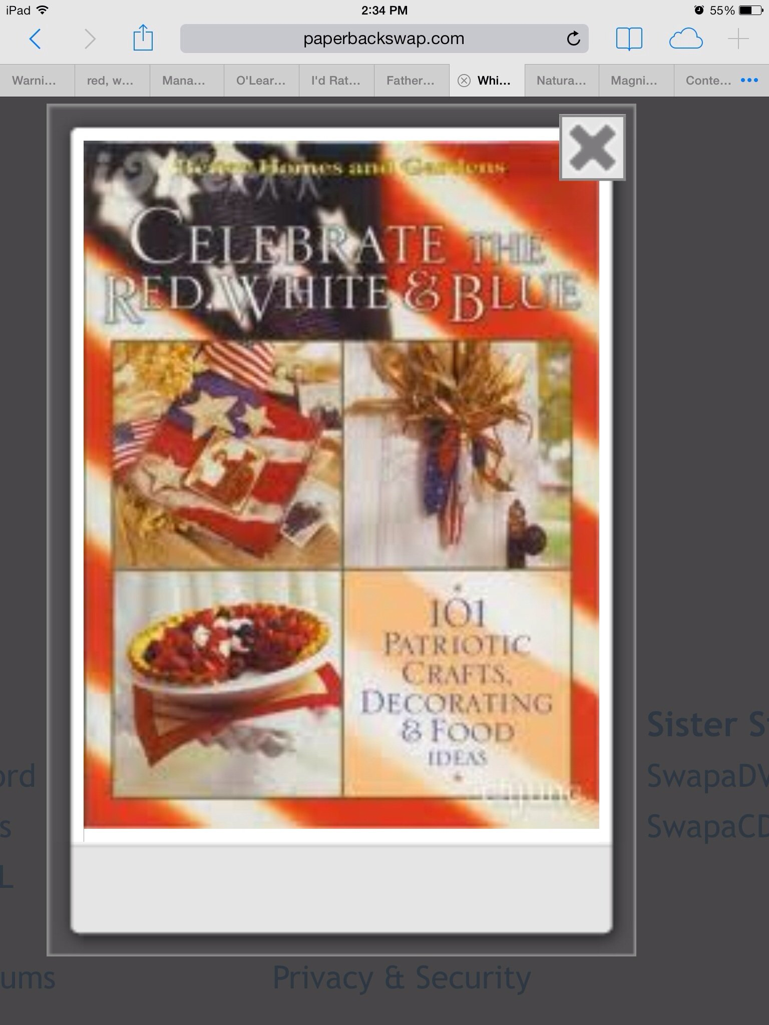 Celebrate the red, white & blue: 101 patriotic crafts, food & decorating ideas ebook