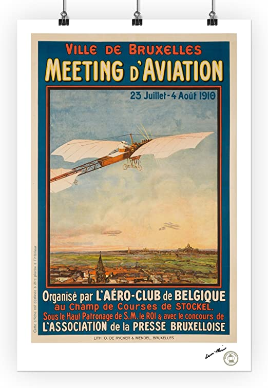 Amazon Com Belgium Meeting D Aviation Bruxelles C 1910 Vintage Advertisement 62207 24x36 Signed Print Master Art Print Wall Decor Poster Posters Prints