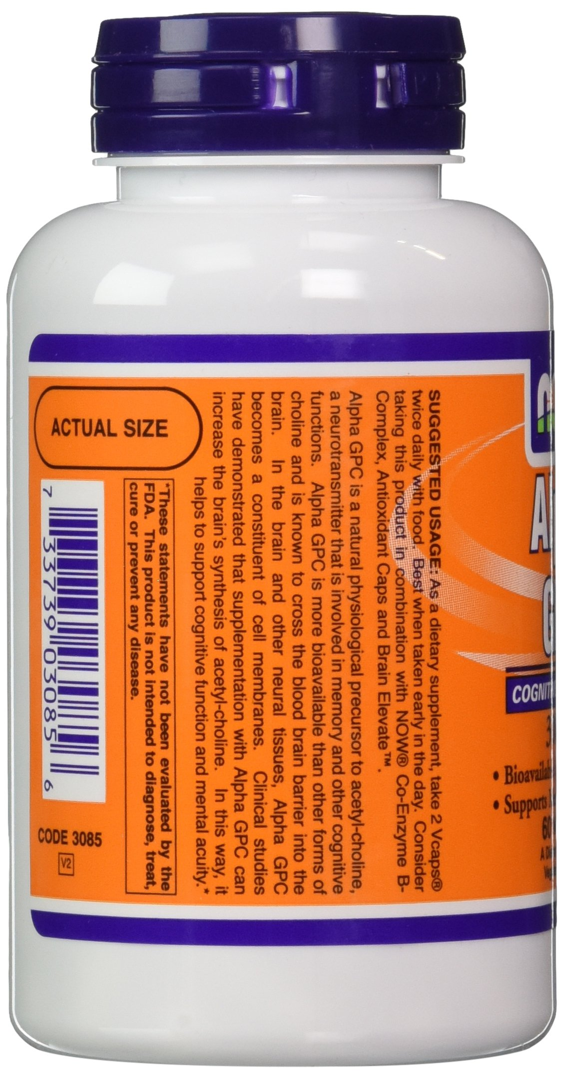 Now Foods Alpha Gpc 300mg, 60 Vcaps (Pack of 2)