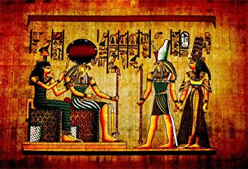 9x6ft Old Egypt Pharaoh Papyrus Backdrop Antique Hieroglyphs Wall Painting Egyptian Parchment Photography Background Wallpaper Party Travel Photo Studio Props