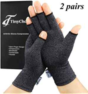 LIOOBO 1 Pair Thumb Hand Wrist Support Gloves Arthritis Compression Glove for Men Women Black, Size S