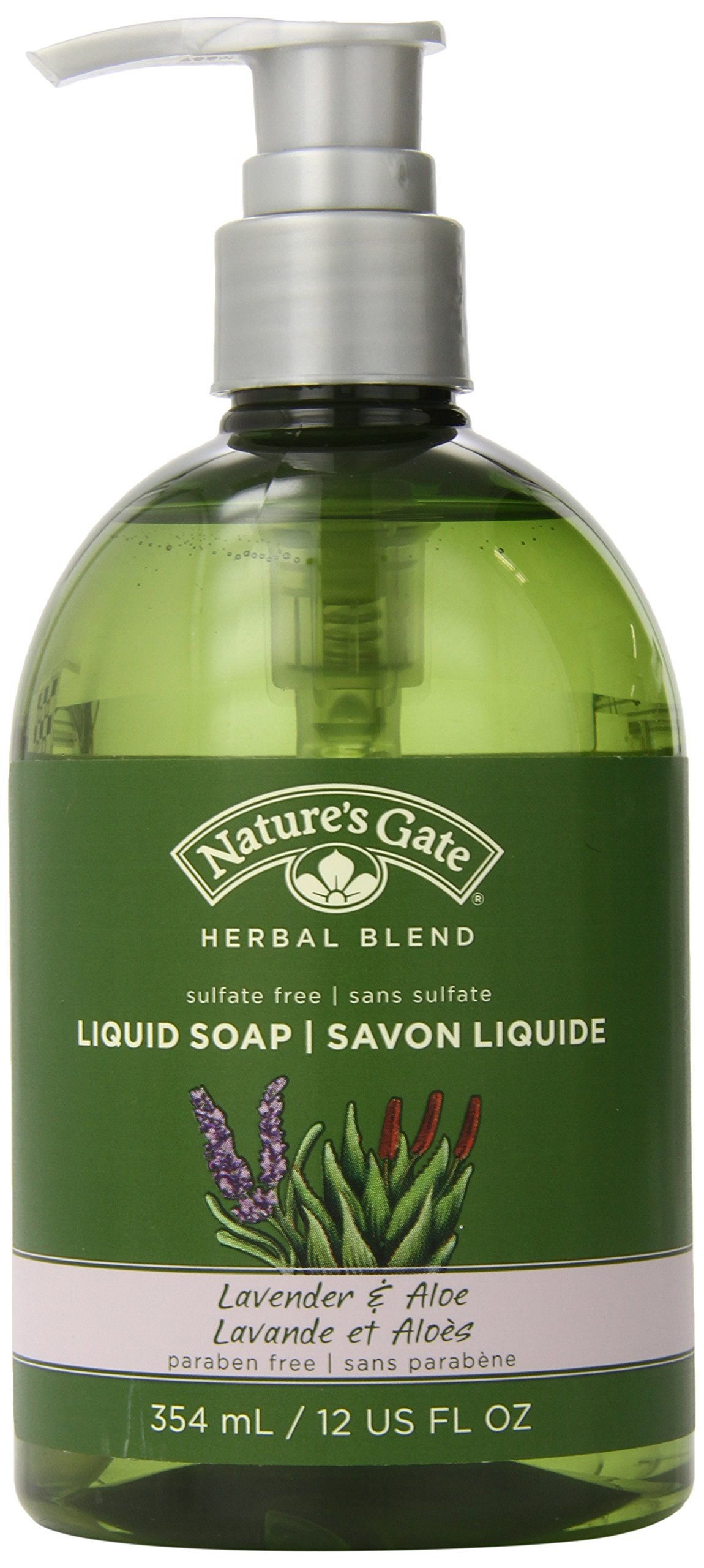 Nature's Gate Natural Organic Lavender and Aloe Herbal Blend Liquid Soap, Vegan, Paraben Free, Phthalate Free, Cruelty Free, Sulfate Free, 12 Ounce (Pack of 3)