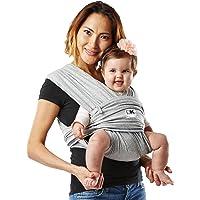Baby K'tan Original Portador de bebé, algodón elástico color negro, Original, S, Gris Heather