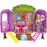 Mattel FPF83 Barbie Chelsea Treehouse Playset (18 Pieces)