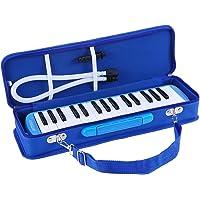 Melodica 32 Teclas, ammoon con Paquete Duro Pianica Teclado de Estilo Piano Harmónica Órgano Bucal con Boquilla Paño de…