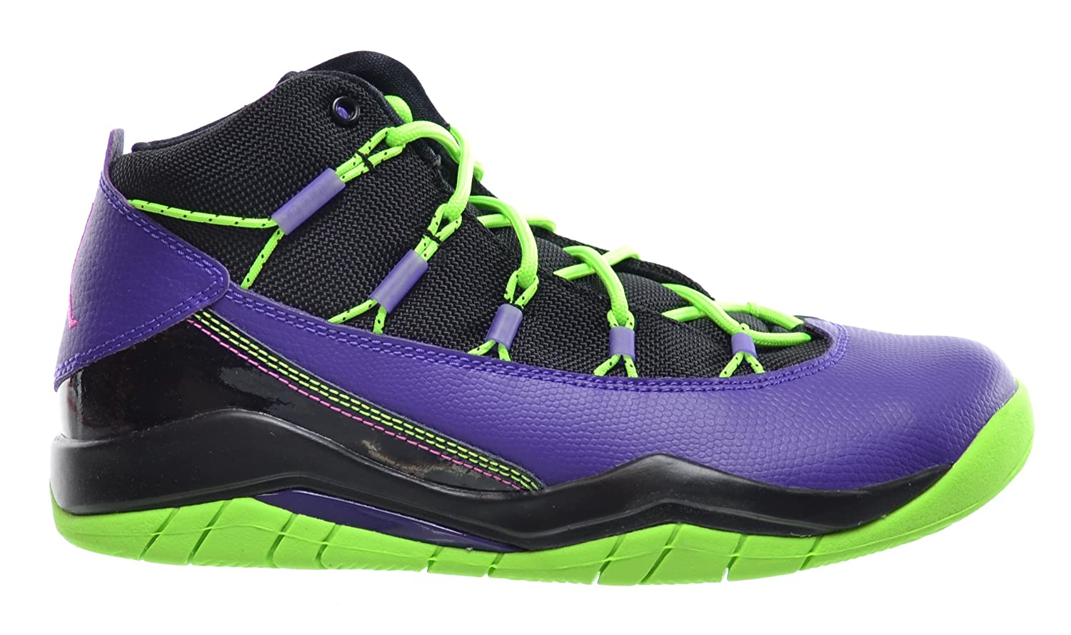 meet 20dc0 2cdb6 Jordan Prime Flight (GS) Big Kids Basketball Shoes Black Club  Pink-Purple-Flash Lime 616861-018 (6 M US)  Amazon.ca  Shoes   Handbags
