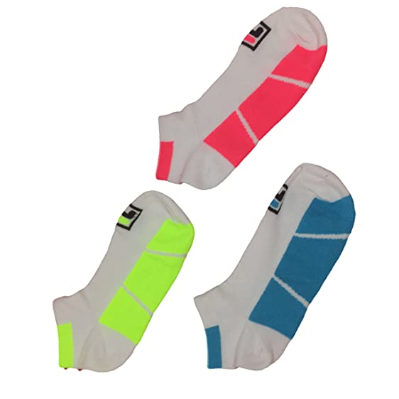 Fila Women Socks - Shock Dry Low-cut White Assorted Color 3 Pairs