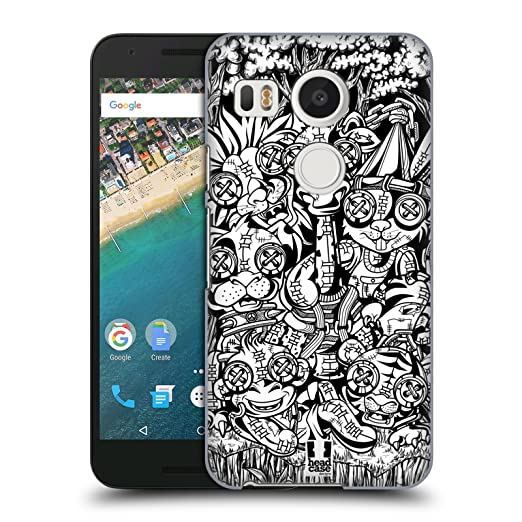 3 opinioni per Head Case Designs Animali Bambole Voodoo Doodle Cover Retro Rigida per LG Nexus