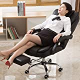 m·kvfa Office Chair Gaming Chair Leather Desk High Back Computer Chair with Function Executive Ergonomic Stool Adjustable Swivel Seat Height